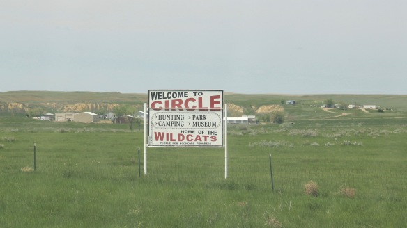 McCone Co Circle sign