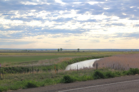 Phillips Co Milk river irrigation ditch near Robinson ranch